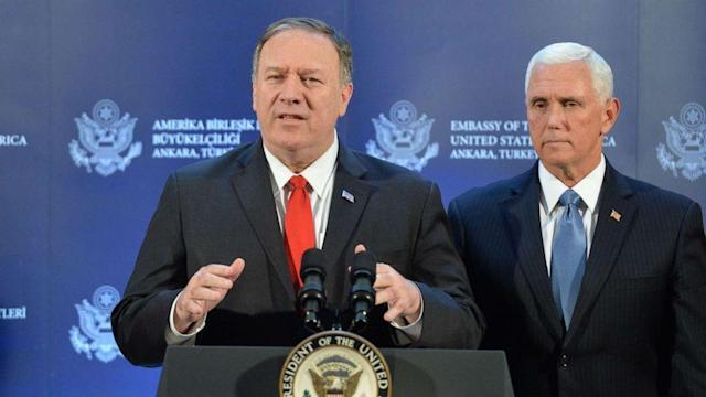 Secretary Mike Pompeo defends deal brokered with Turkey to temporarily halt military operations in Syria (ABC News)