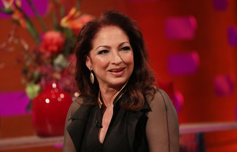 Gloria Estefan during the filming for the Graham Norton Show at BBC Studioworks 6 Television Centre, Wood Lane, London, to be aired on BBC One on Friday evening. (Photo by Isabel Infantes/PA Images via Getty Images)