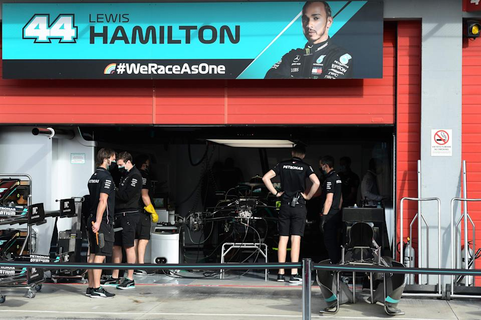 Mercedes are yet to tie down Hamilton for 2021AFP via Getty