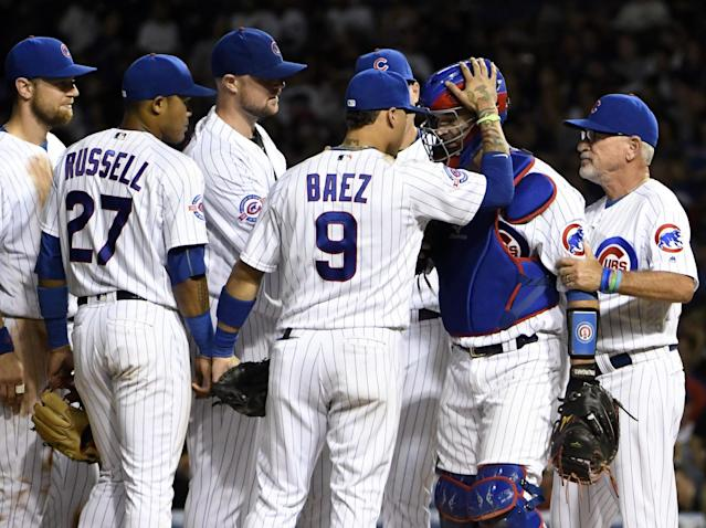 The Chicago Cubs finish No. 1 in Tim Brown's Power Rankings. (Getty Images)