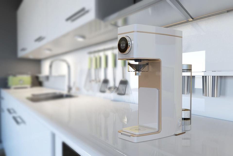 The Baby Barista instantly produces formula for babies, and it's designed to be an attractive addition to your kitchen.