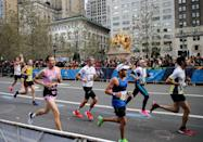 "<p>Yes, this is a rule. You're allowed to <a href=""https://help.nyrr.org/tcsnycmarathon/s/article/what-are-nyrrs-rules-of-competition1"" rel=""nofollow noopener"" target=""_blank"" data-ylk=""slk:spit or snot while running"" class=""link rapid-noclick-resp"">spit or snot while running</a>, but the New York City Marathon says you have to watch out for your fellow runners while doing it. </p>"