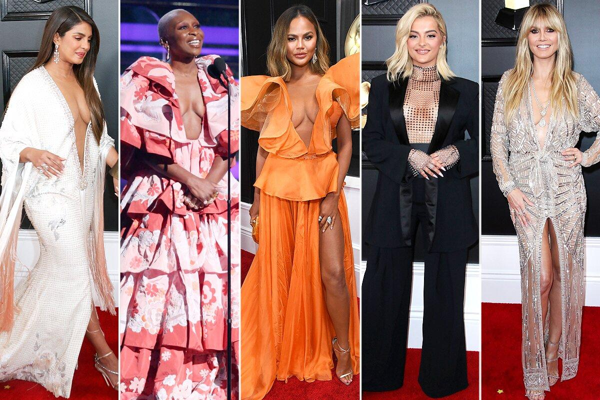 Priyanka Chopra Jonas (in Ralph & Russo Couture), Cynthia Erivo, Chrissy Teigen (in Yanina Couture), Bebe Rexha (in Christian Cowan) and Heidi Klum weren't afraid to go low — really, really low — with their plunging designs.