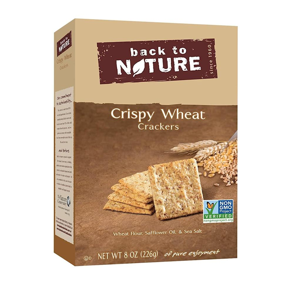 <p>Once you start eating these <span>Back to Nature Crackers</span> ($3), it'll be hard to stop.</p>