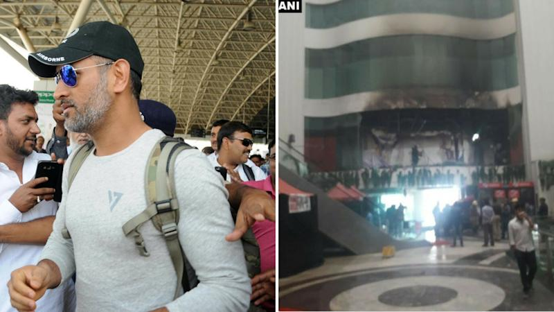 MS Dhoni, Jharkhand Team Evacuated After Fire At Delhi Hotel