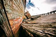 <p>This playful image captures the decaying wood of abandoned ships left to rot in Scotland. (Image: David Nicholls)</p>