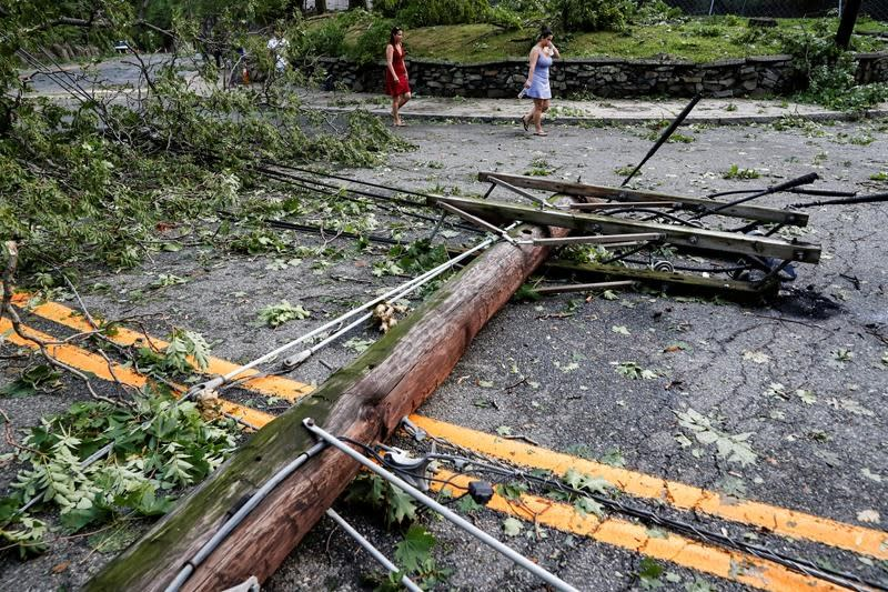 Downgraded from tropical storm, Isaias soaks Quebec and causes power outages