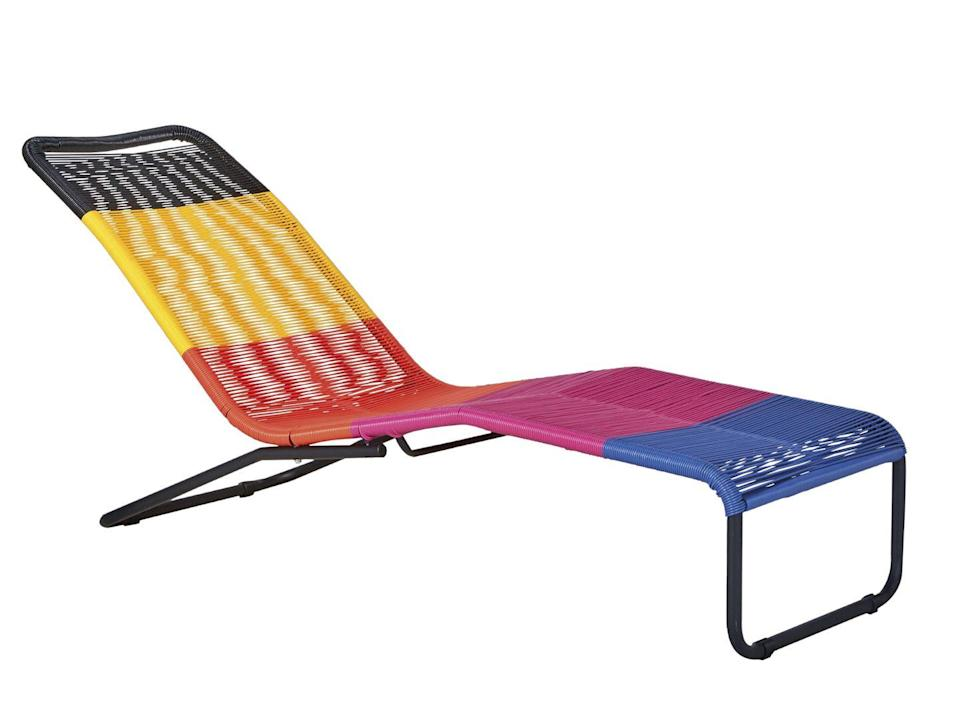 """<p>Looking to give your garden a tropical feel without spending the earth? This carnival bright design, made of plastic and wicker, is the quick and fun update you need. It packs flat for easy storage and, if you do want to keep it out all year, it's hardy enough to survive. £150, <a href=""""https://www.argos.co.uk/product/8807009"""" rel=""""nofollow noopener"""" target=""""_blank"""" data-ylk=""""slk:argos.co.uk"""" class=""""link rapid-noclick-resp"""">argos.co.uk</a></p>"""