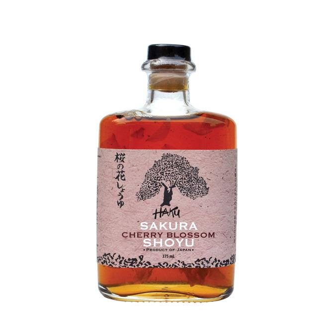 """<p><b>The Rosé of Soy Sauce</b></p><p>The cherry blossoms in this shoyu from Haku are pickled in pinkish ume-shiso vinegar, then added to white soy sauce; a nice accent to salads or fish.<i><a href=""""http://umamimart.com/products/sakura-cherry-blossom-shoyu"""" title=""""$24, Umami Mart"""">$24, Umami Mart</a></i></p><p><b><br /></b></p><p><br /></p>"""