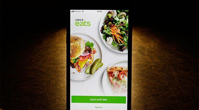 Ms Palmer ordered from popular food delivery service app UberEats. Source: AAP / File photo