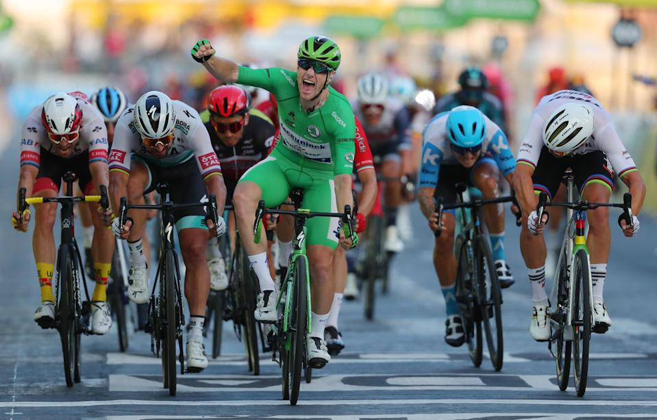Bennett has taken his form from the streets of France into the final Tour of the year (AFP via Getty Images)