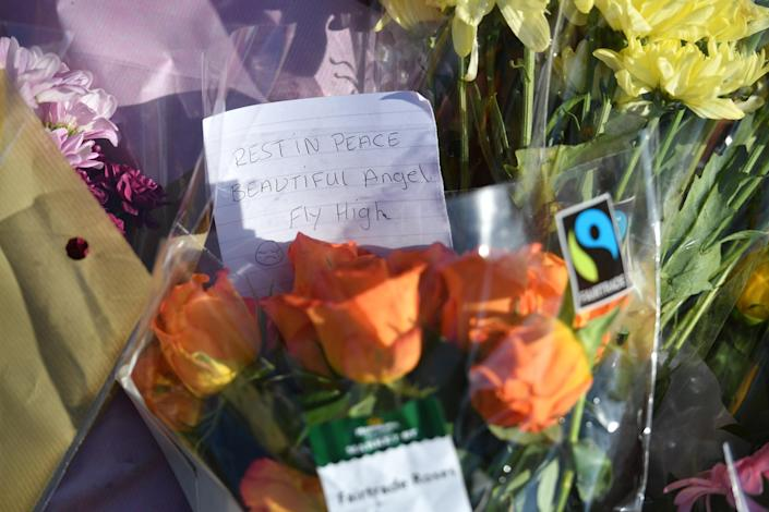 Floral tributes placed to Keeley Bunker were left by Wigginton Park. (PA Images)