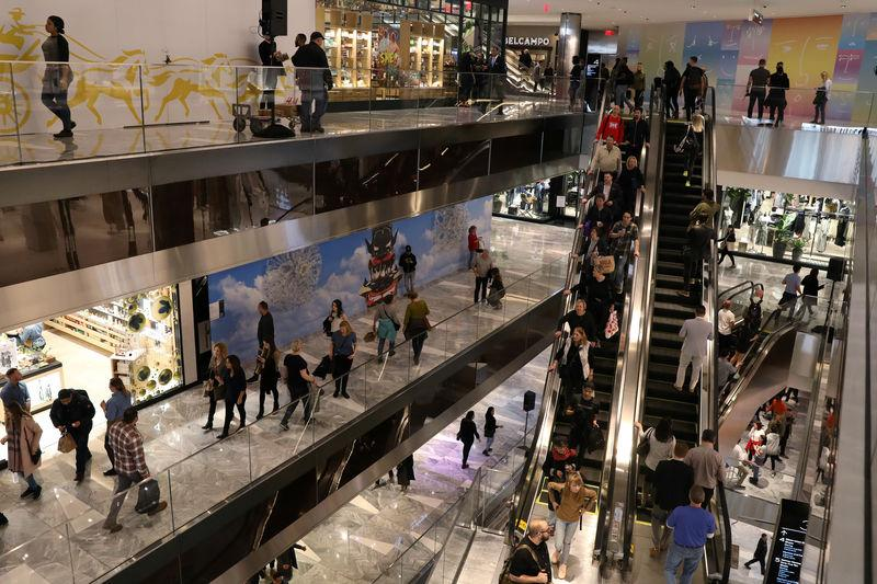FILE PHOTO: People tour The Shops during the grand opening of The Hudson Yards development in New York