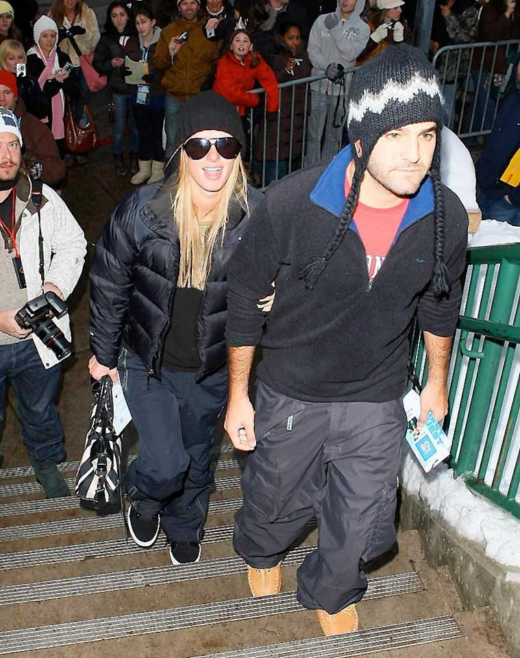"""While in Park City, fashion isn't a concern for Nicky Hilton and her main squeeze David Katzenberg, but staying warm is! AlphaX/<a href=""""http://www.x17online.com"""" target=""""new"""">X17 Online</a> - January 21, 2008"""