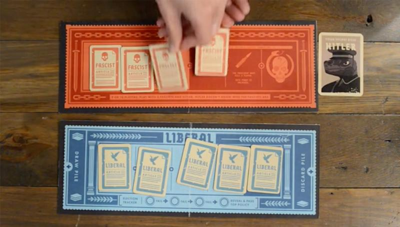 Secret Hitler game: The product states it is a social deduction game for up to 10 people.