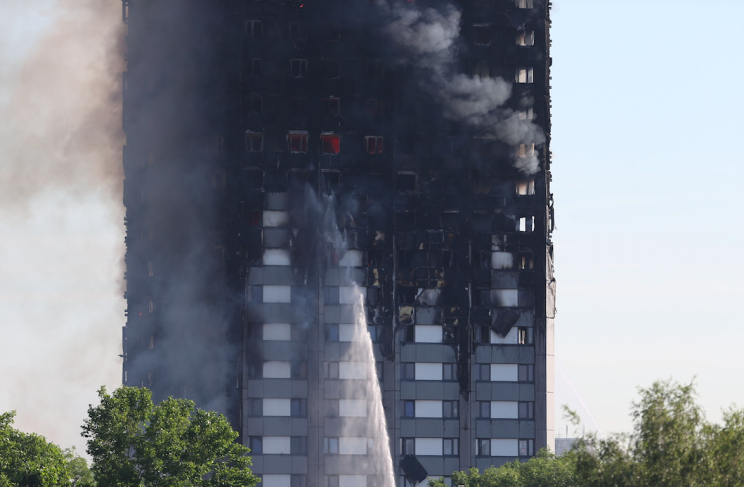 Several hundred people were inside the building as it caught fire (PA)