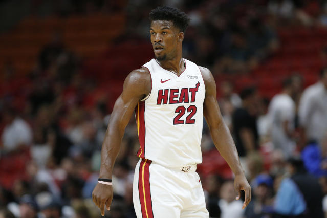 Jimmy Butler won't play in Miami's season opener because of uncited personal reasons. (Michael Reaves/Getty)