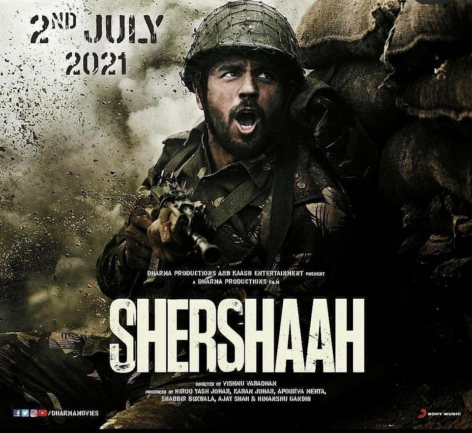 Sidharth Malhotra in the poster for <i>Shershaah</i>