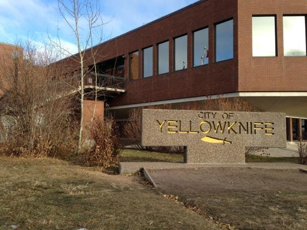 Yellowknife City Hall, captured in this file image, is closing while the city deals with a surge in COVID-19 cases connected to an outbreak at N.J. Macpherson School, first detected over the weekend. (Andrew Pacey/CBC - image credit)