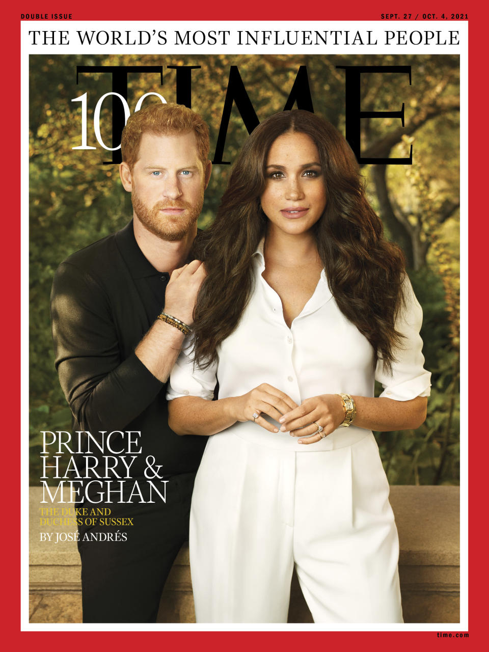 Prince Harry and Meghan Markle are on one of seven covers for the publication's 100 most influential people list. - Credit: Courtesy of Time