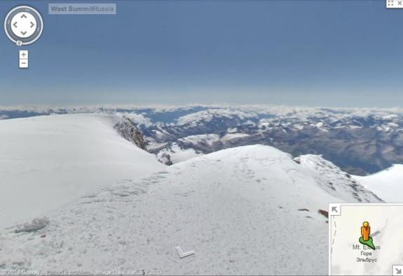The new imagery also includes a 360-degree view of the snow-capped Mt. Elbrus, the tallest mountain in Europe