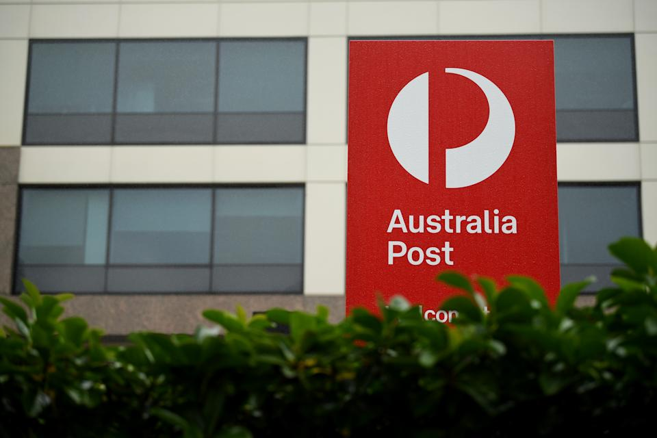Signage at an Australia Post outlet in Sydney. Source: AAP