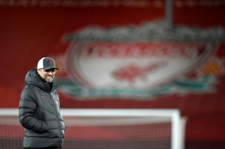 Record setter: Liverpool manager Jurgen Klopp at Anfield on Sunday