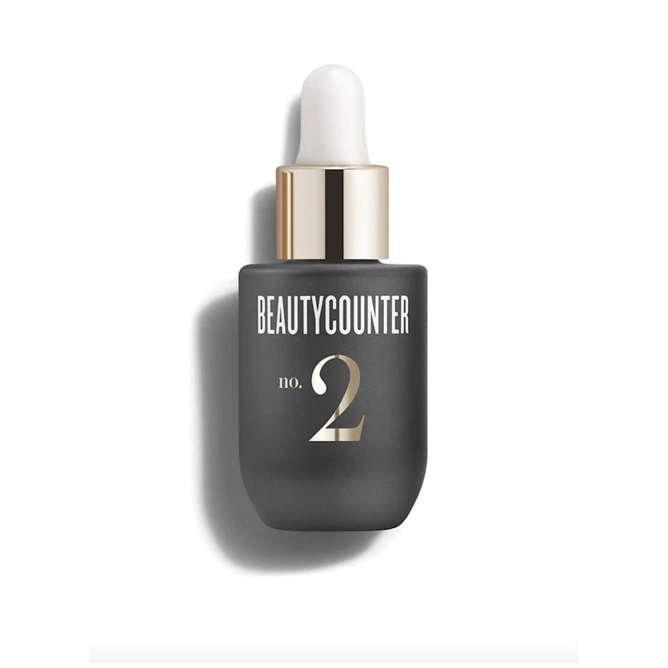"""<p>A blend of oils, including grape seed and orange and grapefruit peel oils, works to improve skin elasticity, moisture, and firmness. Use 4 to 6 drops on the face and neck.</p> <p>Buy: $69; <a href=""""https://www.beautycounter.com/product/counter-plus-no-2-plumping-facial-oil"""" target=""""_blank"""">beautycounter.com</a></p>"""