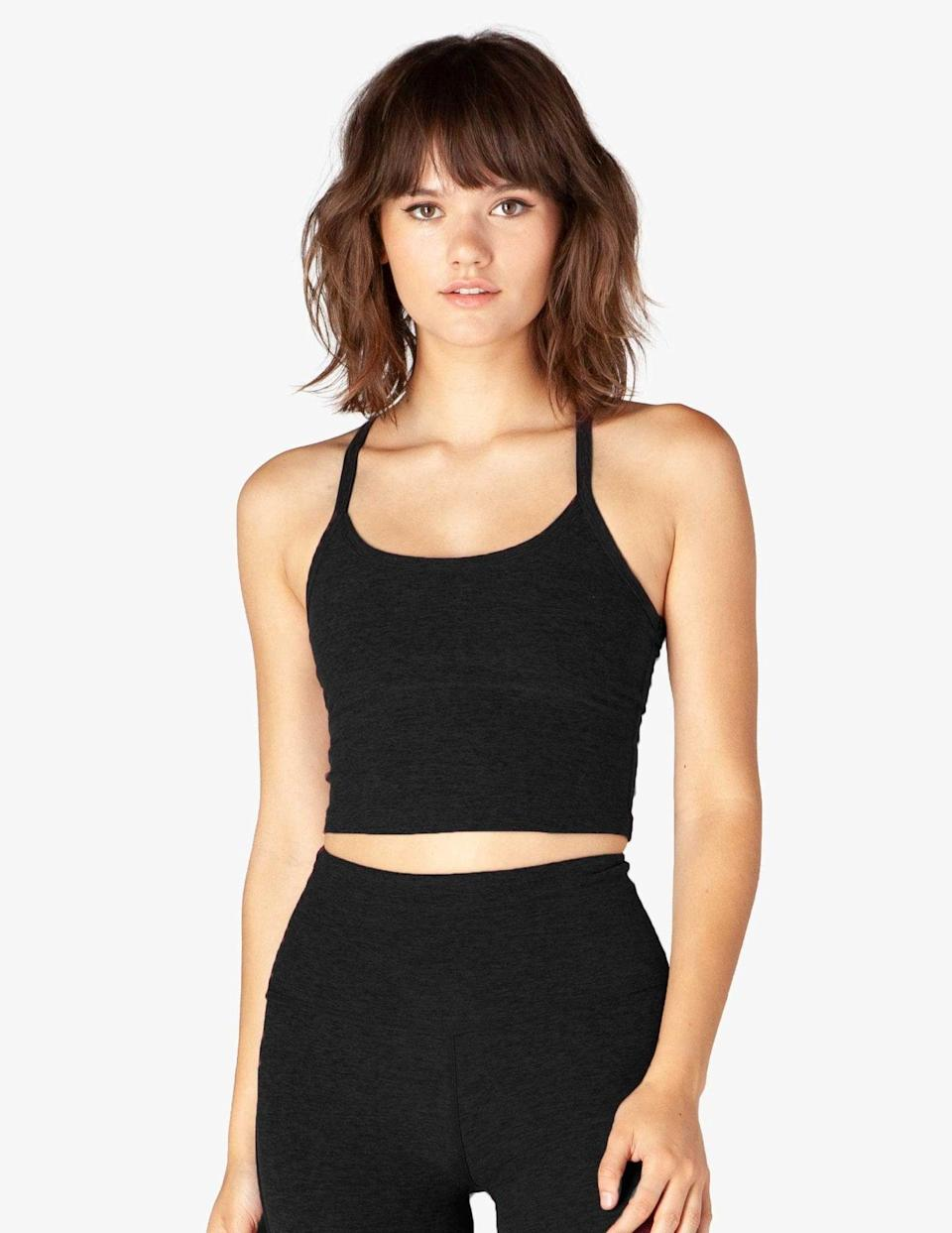 <p>This <span>Beyond Yoga Spacedye Slim Racerback Cropped Tank</span> ($66) is the ultimate do-it-all cropped tank.</p>