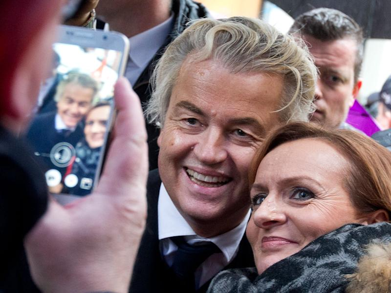 Netherlands nationalist politician Geert Wilders has gained popularity among voters after calling for the country to leave the EU: AP