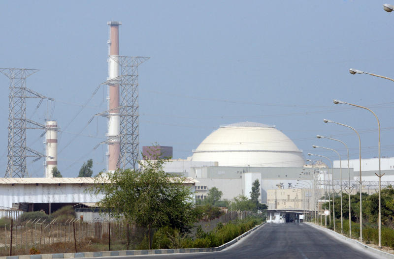 FILE -- This Aug. 20, 2010 file photo shows the Bushehr nuclear power plant, outside the southern Iranian city of Bushehr. Earthquake-prone Iran's leaders have reviewed, and rejected,  concerns by top scientists about their plan to build a nuclear reactor network after Japan's nuclear disaster, according to intelligence shared with The Associated Press, with the startup of Iran's existing plant at Bushehr on the Persian Gulf beginning this month. (AP Photo/Vahid Salemi, file)