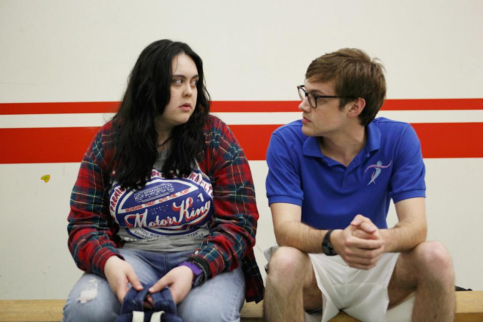 Sharon Rooney and Dan Cohen sit and look at each other (Season 1)