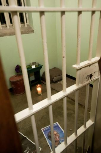 Mandela's cell at the prison at Robben Island off Cape Town
