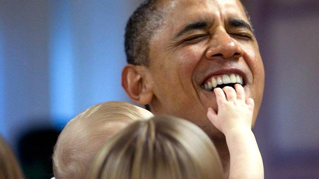 Parents 'Mortified' After Baby Gives President Obama a Mouthful