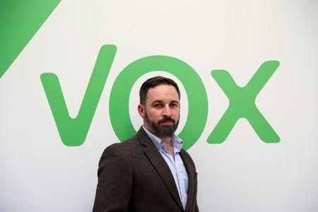 Santiago Abascal, leader of far-right political party VOX, poses after an interview with Reuters at the party's headquarters in Madrid, Spain, October 16, 2018. REUTERS/Susana Vera