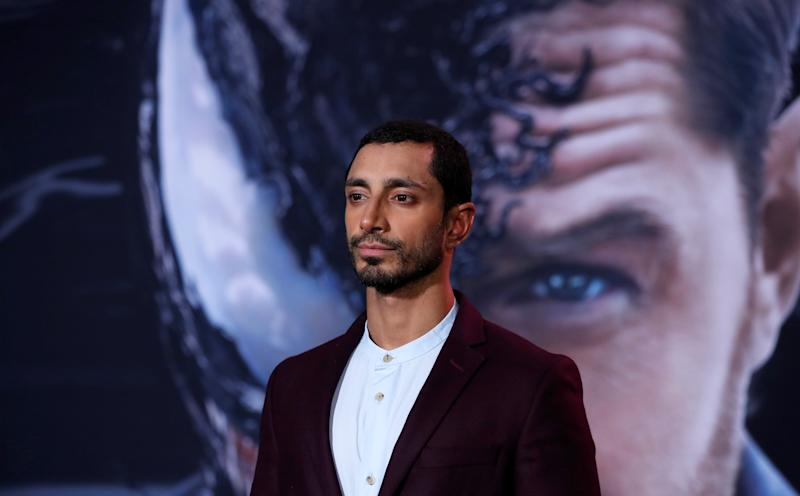 "Cast member Riz Ahmed attends the premiere for the movie ""Venom"" in Los Angeles, California, U.S., October 1, 2018. REUTERS/Mario Anzuoni"