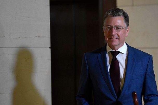 PHOTO: Kurt Volker, President Donald Trump's former special envoy to Ukraine, arrives on Capitol Hill in Washington, Oct. 16, 2019. (Susan Walsh/AP, FILE)