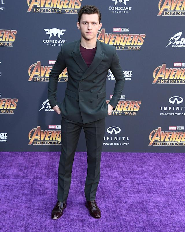 <p>Spidey switched it up with a tee. (Photo: Getty Images) </p>