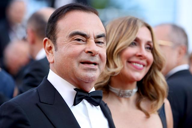Carlos Ghosn and his wife Caroline Ghosn at the Cannes Film Festival in May 2018. Photo: Mike Marsland/Mike Marsland/WireImage