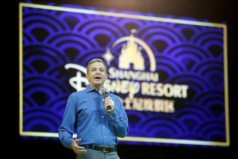Disney's CEO Bob Iger holds a news conference at Shanghai Disney Resort as part of the three-day Grand Opening events in Shanghai