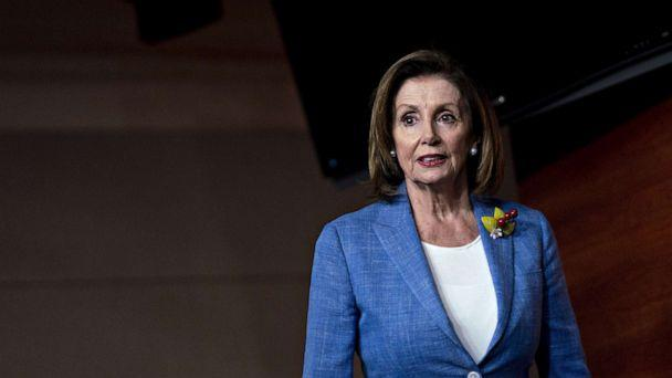 PHOTO: House Speaker Nancy Pelosi arrives for a news conference on Capitol Hill in Washington, D.C., July 26, 2019. (Bloomberg via Getty Images, FILE)
