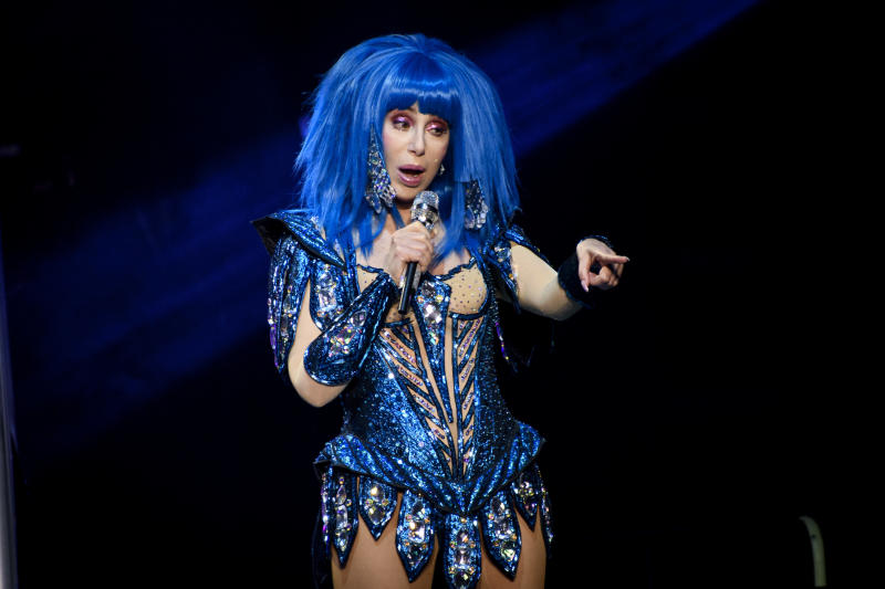 TORONTO, CANADA - 2019/11/29: American singer and actress Cher performs live on stage at a sold out show in Toronto. (Photo by Angel Marchini/SOPA Images/LightRocket via Getty Images)