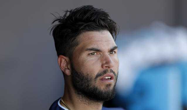 Eric Hosmer thinks MLB free agency is broken. (AP Photo/Charlie Neibergall)
