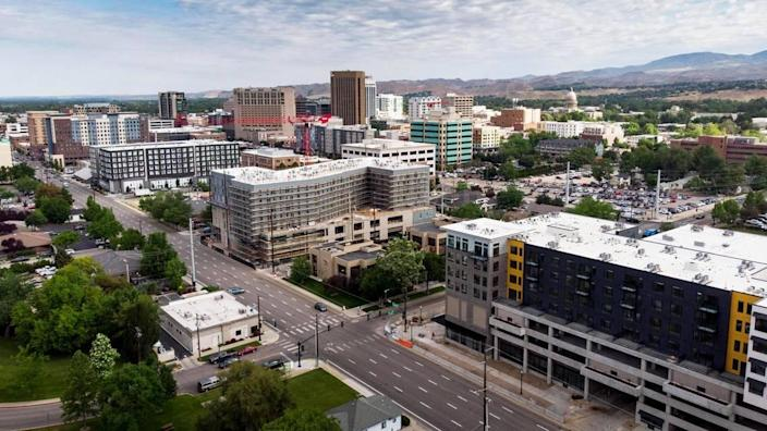 Several new developments have bloomed along Myrtle Street in downtown Boise, offering more apartments, but also retail and office space with dedicated parking.