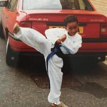 Lewis Hamilton honed his fighting spirit with karate classes as a child - Credit: Lewis Hamilton from Instagram