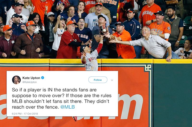 Kate Upton sounds off on ALCS fan interference call