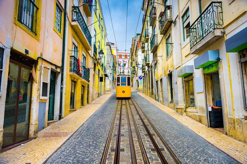 The city tram in Lisbon - Credit: AP