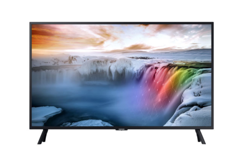"Samsung 32"" 4K UHD HDR LED Tizen Smart TV. Image via Best Buy."