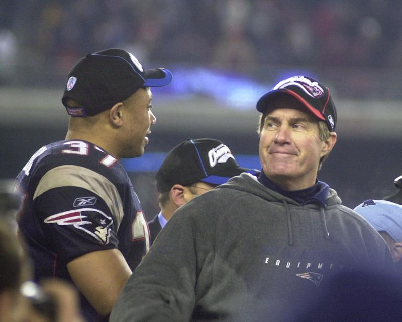 Bill Belichick made his case for Rodney Harrison's candidacy for Canton on Monday. (Getty)