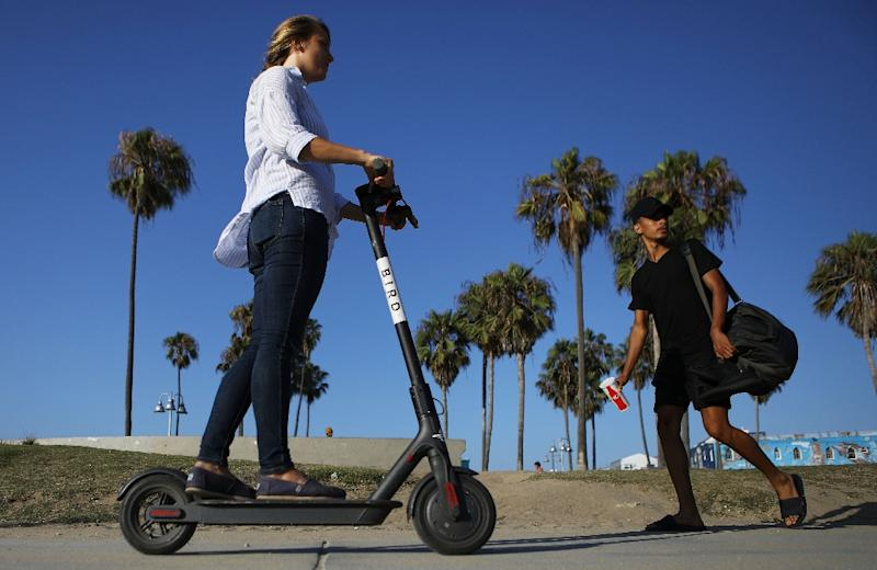 The e-scooter craze sweeping the US and other parts of the world has led to numerous injuries, including to riders who don't wear helmets as recommended (AFP Photo/MARIO TAMA)